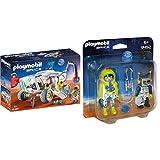 PLAYMOBIL 9489 Spielzeug-Mars-Erkundungsfahrzeug & 9492 Spielzeug-Duo Pack Astronaut und Roboter