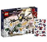 Collectix Lego Marvel Set: Spider-Mans Drohnenduell 76195 + 1x Spiderman Stickerbogen, für Kinder ab 7 Jahren