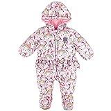 Baby Schneeanzug Overall Winter Säugling mit Kapuze Strampler Outfits Kleinkind Baumwolle Dick Gepolstert Regenbogen 0-3 Monate