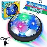 GUBOOM Air Hockey, Hover Ball, Air Power Fußball mit LED Beleuchtung, Fussball Geschenke Ab 5-10 Jahre Jungen, Spielzeug Junge 3 4 5 6 7 8 Jahre, für Geschenke Jungen Mädchen Indoor Outdoor Spiele