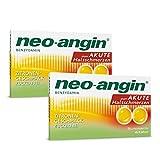 neo-angin Benzydamin gegen akute Halsschmerzen | Sparset mit 2 x 20 Stück | Lutschtabletten mit Zitronengeschmack für Erwachsene & Schulkinder | zuckerfrei