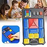 Smosyo Huarong Road Schiebepuzzle Magnetisches Denken Logik Puzzle Elektronisches Spielzeug Erwachsene Kinder Problemlösung Handheld-Spiel Lernspielzeug Geschenk für Kinder