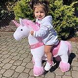 PonyCycle Offizielle Klassisch U-Serie Reiten auf Einhorn Spielzeug Plüsch Lauftier Rosa Einhorn für 3-5 Jahre Kleine Größe U302