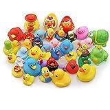 Zhangpu Fancy Novelty Gummienten für Spaß beim Baden, Spielzeug für Weihnachten, Partyzubehör, zufällige Farbe, 20 Stück