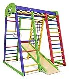 Kinder Aktivitätsspielzeug Kletterturm mit Rutsche'Akvarelka' Spielcenter Spielplatz