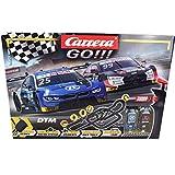 Carrera GO!!! Race UP! Rennstrecken-Set | 9 m elektrische Rennbahn mit Audi RS 5 Rockenfeller & BMW M4 Eng | mit 2 Handreglern & Streckenteilen | Für Kinder ab 6 Jahren & Erwachsene