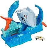 Hot Wheels GJL12 - Robo-Hai-Angriff Spielset mit 1 Hot Wheels Fahrzeug mit Farbwechsel Effekt, Spielzeug ab 5 Jahren