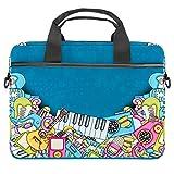 TIZORAX Laptoptasche mit Griff, für Musikinstrumente, 38,1 - 39,1 cm (15 - 15,4 Zoll)
