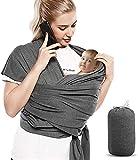 Bizcasa Babytragetücher Elastisches Baby-Tragetuch für Neugeborene, Elastisches Tragetuch Neugeborene, Tragetuch Baby Elastisch
