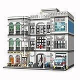 Barm Modulare Hausbausätze,4953+PcsModulare Gebäude Krankenhaus Große 3-Schichten-Serie MOC Architekturmodellbausätze, kompatibel mit Lego