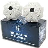 2 x Biologischer Waschball - Öko Waschkugel im Vorteilspack - Waschen ohne Waschmittel - Antibakteriell, Nachhaltig & Umweltfreundlich - ideal für Allergiker, Kinder und Umweltbewusste