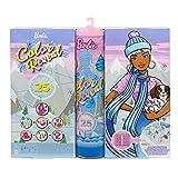 Barbie HBT74 - Color Reveal Adventskalender, 25 Überraschungen inklusive Color Reveal Puppe, ab 3 Jahren