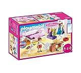 Playmobil Dollhouse 70208 Schlafzimmer und Nähstudio, mit Lichteffekten, ab 4 Jahren