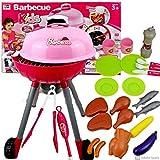 Barbecue Gartengrill Grill Fuer Kinder Kindergrill Spielzeug,Grill mit Zubehoer Kugelgrill One Touch Premium Kinder Grill mit Licht,Sound und zahlreichem Zubehör Spielzeug für Kinder ab 3 Jahren