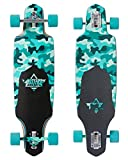 Dusters Longboard Channel Dragonfly Camo/Teal Drop Through 34'