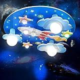 Led Kinderzimmerlampe Universe Star Deckenleuchten Cartoon Runde Deckenleuchte Jungen Und Mädchen Zimmer Deckenleuchten Tricolor Dimming Schlafzimmer Umgebung Für Cartoon Beleuchtung Indoor Kronleuc