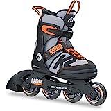 K2 Inline Skates RAIDER Für Jungen Mit K2 Softboot, Black - Grey - Orange, 30B0201