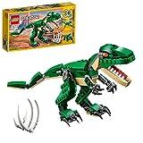 LEGO 31058 Creator Dinosaurier Spielzeug, 3in1 Modell mit T-Rex, Triceratops und Pterodactylus Figuren, Bausteine Set für Kinder ab 7 Jahren