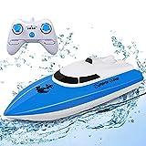 STOTOY RC-Boot, ferngesteuerte Rennboote für Pools und Seen, elektrisches Mini-Schnellboot mit 2,4 GHz für Kinder und Erwachsene, Motorboot für die Funksteuerung im Freien (NUR IM Wasser Arbeiten)