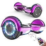 FUNDOT Hoverboards,Hoverboards Kinder,6,5 Zoll Self Balance Scooter,E-Scooter mit schönen LED-Lichtern,Bluetooth-Lautsprecher,Geschenk für Kinder