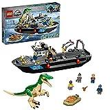 LEGO 76942 Jurassic World Flucht des Baryonyx Spielzeug mit Schnellboot für Jungen und Mädchen, Geschenkideen für Kinder Dinosaurier Figuren