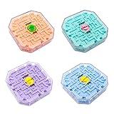 Mnsun 3D Labyrinth Cube Transparent Zehnseitiges Puzzle Speed Cube Rolling Ball Game Cubos Labyrinth Spielzeug für Kinder Lernspielzeug
