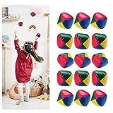 Surplex 15 Stück Mini Jonglierbälle für Anfänger, Langlebige Jonglierbälle Set, Weiche Einfache Mehrfarbig Jonglier-Set, interaktives Spielzeug zur Jonglage für Kinder & Erwachsene