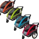 Veelar Sports 2 in 1 Kinderanhänger Fahrradanhänger Anhänger mit Buggy Set + Federung 60302-01 (ROT)