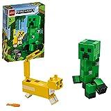 LEGO 21156 Minecraft BigFig Creeper und Ozelot, Spielzeug für Kinder ab 7 Jahren, baubare Figuren