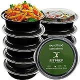 FITPREP® - Runde Meal Prep Boxen im praktischen 10er Pack, 1 Fach - perfekt für Meal Prep.