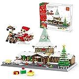 Weihnachten Bausteine Bausatz, Weihnachtshaus Modell, Geschenk für Kinder ab 6 Jahre und Erwachsene, Kompatibel mit Lego Weihnachten(2180 Teile) 52.8 * 36.9 * 37.8