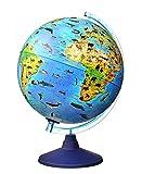 alldoro 68620 3D Lexi Ø 25 cm mit Smartphone IQ Globe App, Leuchtglobus mit LED Lampe ohne Kabel, Kinderglobus mit Tieren, Weltkarte geographisch, Tierglobus beleuchtet, Kinder ab 3 Jahre, Zoo Globus