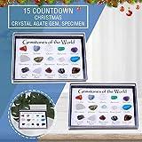 MAWOLY Adventskalender 2021, 15 Stück Naturkristall Achat Stein Mineral-Weihnachts-Adventskalender Adventskalender 2021 Kinder