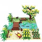 Bauklötze für ländliche Szene Modell, 300+ Teile Klemmbausteine Konstruktion Spielzeugmodelle Kompatibel mit Lego