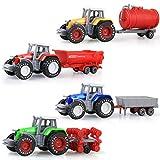 UNDER Farm Traktor Autos Spielzeug Landwirt Auto Fahrzeugbau LKW Auto Spielzeug Kann den hinteren Anhänger und die Head End Baufahrzeuge Site Toy Bulk Kleinkind Geschenk für 3 Jahre alte Jungen superb