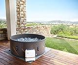 SHATCHI MSpa Concept Mono DWF-Whirlpool für 6 Personen, tragbar, schnell beheizbar, selbstaufblasend, rund, 930 Liter, 173 m x 65 cm, Schwarz/Rotgold