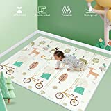 Uanlauo spielmatte baby, XPE falten baby spielmatte 1,5cm tragbar baby spielmatte wasserdicht, 200 * 180cm Faltbare Baby Bodenmatte