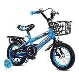Jabey 14.12.16 Zoll Kinder Fahrrad Jungen Mädchen Kleinkind Fahrrad Höhenverstellbares Kinderfahrrad mit abnehmbarem Korb für 2-7 Jahre
