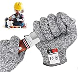 BINXIRUI Schnitzhandschuh Kinder, Arbeitshandschuhe Kinder - Säge Gartenhandschuhe Bosch Kindermesser, EN 388 Zertifiziert, Geeignet für 5-8 Jährige