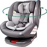 Ding Cruz Kindersitz 0-36 kg mit Isofix, 360 Grad drehbar, dunkelgrau DI-101920
