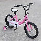 Aohuada neu 16 Zoll Kinderfahrrad Pollici bici per Bambini e Ragazze Biciclette 16-Zoll-Kinderfahrrad Kinder- und Mädchenfahrrad Children's Bike New (Pink)