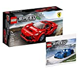 Collectix Lego Speed Champions Set - Ferrari F8 Tributo 76895 + McLaren Elva 30343 (Polybag)