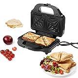 Doppelter Frühstücks-Sandwich-Maker, 900W Elektrisch Frühstückswaffel Panini Maker 3 Abnehmbare Antihaft-Backformen, Doppelseitige Heizung, Für Gegrilltes Käse-Ei-Steak(EU)