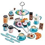 crazerop Teeservice Spielzeug Set Kinder Afternoon Tea Party Teaset Rollenspiel Spielzeug Set, Cupcake Ständer Spielzeug Dessert Spielzeug, Kinderküche Zubehör Für Kinder Ab 3 Jahre