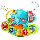 Eutionho Baby Musikspielzeug für 6 9 12 18 Monate Kleinkinder, Elefant Klavier tastatur Musik Spielzeug mit Licht & Ton Musikinstrumente Babyspielzeug für Kinder 1 2 Jahre Jungen Mädchen Lernspielzeug