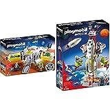 PLAYMOBIL 9487 Spielzeug-Mars-Station & 9488 Spielzeug-Mars-Rakete mit Startrampe