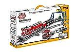 Steinchenshop Roter Diesel Güterzug Plus Schienenkreis Plus elektrischer Antrieb 960 Klemmbausteine ST-97010
