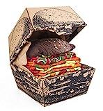 Rainbow Socks - Damen Herren Lustige Vegan Hamburger Socken Box - 2 Paar - Größen EU 36-41