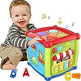 Frühere Lernen Bildungsmusik und bunte Form Sortierspielzeug Baby Spielzeug 12-18 Monate Tätigkeit Cube Spielzeug für 1 Jahre alt Baby Spielzeug 6 12 Monate Geschenk für 1 2 3 Jahre alte Jungen und Mä