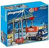 PLAYMOBIL 9540 City Action Elektrischer Verladekran mit LKW